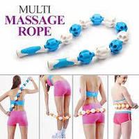 Массажер ручной ленточный Massage Rope 6 шариков, фото 1