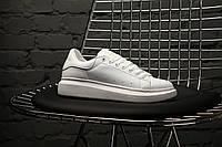 Женские кроссовки Alexander McQueen Full White. Кожа, фото 1