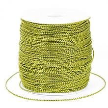 Шнур Металлический Плетеный, Цвет: Золотистый, Размер: Диаметр 1мм, около 100м/катушка, (УТ100009827)
