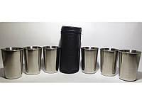 ST3-46 Стопки з нержавіючої сталі 6 шт. (чорний шкіряний чохол) Об'єм: 220 мл