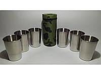 ST3-38 Стопки з нержавіючої сталі 6 шт. (камуфляж) (великі) Об'єм: 200 мл