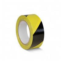 Лента сигнальная (желто-черная) 72мм x 500