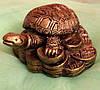 Статуетка фен - шуй черепаха на монетах, розмір 3x5 див.