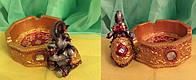 Пепельница фэн - шуй слон денежный, размер 6,5 * 11 см.