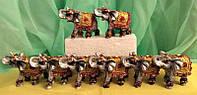 Статуэтка Слоны денежные, в наборе 8 шт. высота 5 см.