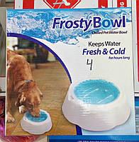 Охлаждающая миска для воды для домашних животных Frosty Bowl, Миска для собак с охлаждающим гелем, фото 1