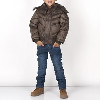 Укороченная Зимняя Куртка Для Мальчика Подростка Коричневого Цвета В Спортивном Стиле BRUMS, Италия 104