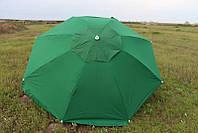 Зонт торговый (пляжный) из плотной ткани с ветровым клапаном, диаметр 3,5 м.
