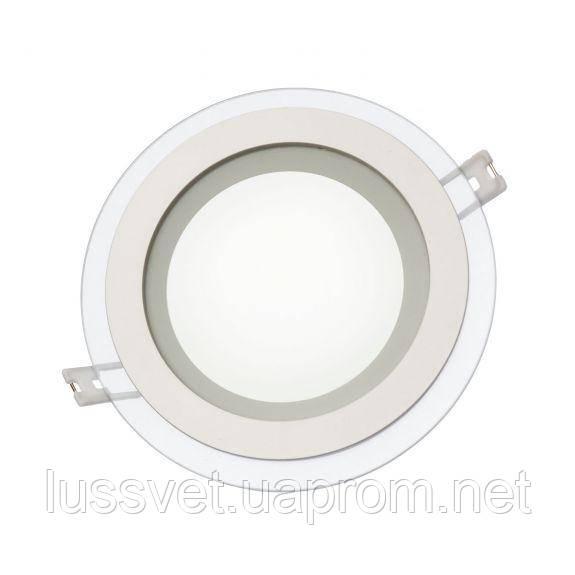Круглый светодиодный светильник downlight со стеклом SpectrumLED FIALE ECO  18W (белый)