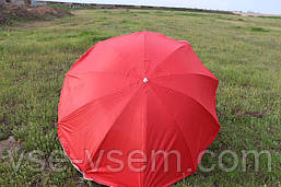 Зонт торговый (пляжный) с серебряным напылением, диаметр 2,2 м.