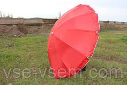Зонт торговый (пляжный) с серебряным напылением, 12 спиц, диаметр 2,8 м.