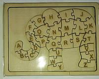 Деревянная азбука - пазл английского алфавита.