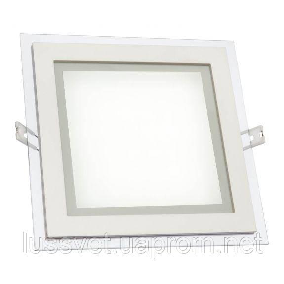 Квадратный светодиодный светильник downlight со стеклом SpectrumLED FIALE ECO  18W (белый)