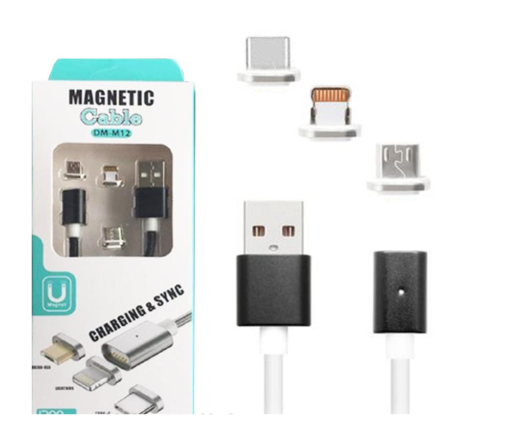 Кабель магнитный 3 в 1 Micro/iPhone5/6/Type C 1 м