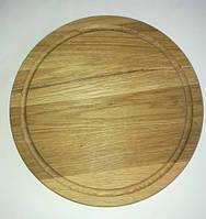 Разделочная доска круглая ДУБ, диаметр 30 см., фото 1