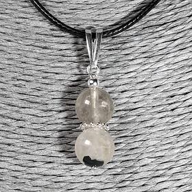 Ахроит прозрачный, белый турмалин, кулоны