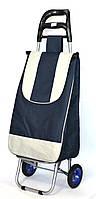 Хозяйственная сумка тележка Xiamen с колесами на подшипниках Blue with gray (0003), фото 1