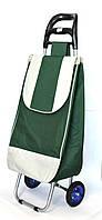 Хозяйственная сумка тележка Xiamen с колесами на подшипниках Green with gray (0004), фото 1