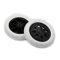 Запасные колеса для хозяйственной сумки тележки Xiamen белые с черным (0005)