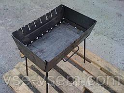 Складной мангал - чемодан на 10 шампуров