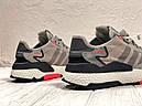 Кроссовки серые мужские Адидас Найт Джоггер (Adidas Nite Jogger ) размер 41, 42, 43, 44, 45 реплика, фото 4