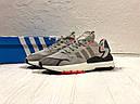 Кроссовки серые мужские Адидас Найт Джоггер (Adidas Nite Jogger ) размер 41, 42, 43, 44, 45 реплика, фото 5
