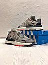 Кроссовки серые мужские Адидас Найт Джоггер (Adidas Nite Jogger ) размер 41, 42, 43, 44, 45 реплика, фото 6