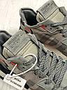 Кроссовки серые мужские Адидас Найт Джоггер (Adidas Nite Jogger ) размер 41, 42, 43, 44, 45 реплика, фото 9