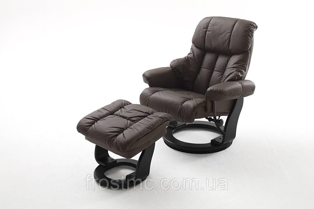 Кресло Frost Relax Calgar Chair Brown с оттоманкой для ног