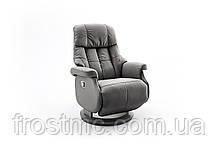Комфортне крісло-реклайнер Relax Calgar L Chair Muddy стелаж Чорний.