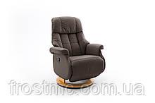 Комфортне крісло-реклайнер Relax Calgar L Chair Brown стелаж Натуральний.