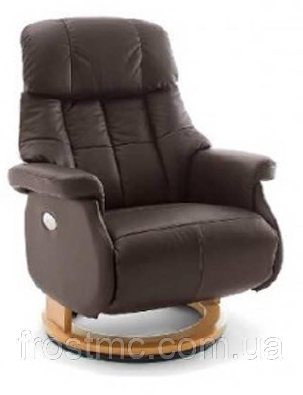 Крісло з електричним Реклайнером Relax Calgar XL Chair Brown стелаж натуральний.