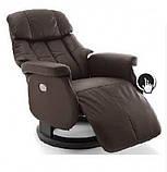 Крісло з електричним Реклайнером Relax Calgar XL Chair Brown стелаж натуральний., фото 2