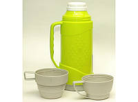 Термос (стекло), объем 1000 мл., 2 чашки., фото 1