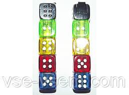 """ZK211 Зажигалка """"Кости"""" с мигающей подсветкой."""