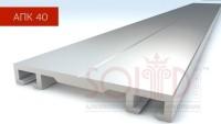Алюмінієвий профіль прижимна кришка  АПК-40 з ущільнювачем