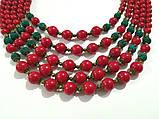Намисто Панянка из Коралла и Лавы, натуральный камень, цвет красный и его оттенки, тм Satori \ Sk - 0103, фото 3