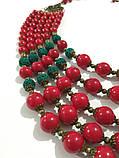 Намисто Панянка из Коралла и Лавы, натуральный камень, цвет красный и его оттенки, тм Satori \ Sk - 0103, фото 2