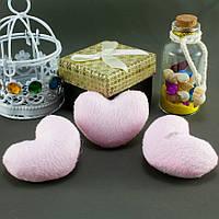 """Плюшевая заготовка-игрушка с мягким наполнителем """"Сердечко-4"""" 5х4см, Цена за 1шт Цвет - Розовый, фото 1"""