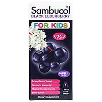 Сироп из чёрной бузины для детей, Поддержка иммунной системы (230 мл) Sambucol