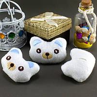 """Плюшевая заготовка-игрушка с мягким наполнителем """"Мишка-3"""" 5х3,5см, Цена за 1шт Цвет - Белый, фото 1"""