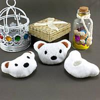 """Плюшевая заготовка-игрушка с мягким наполнителем """"Мишка-1"""" 5,5х3,5см, Цена за 1шт Цвет - Белый, фото 1"""