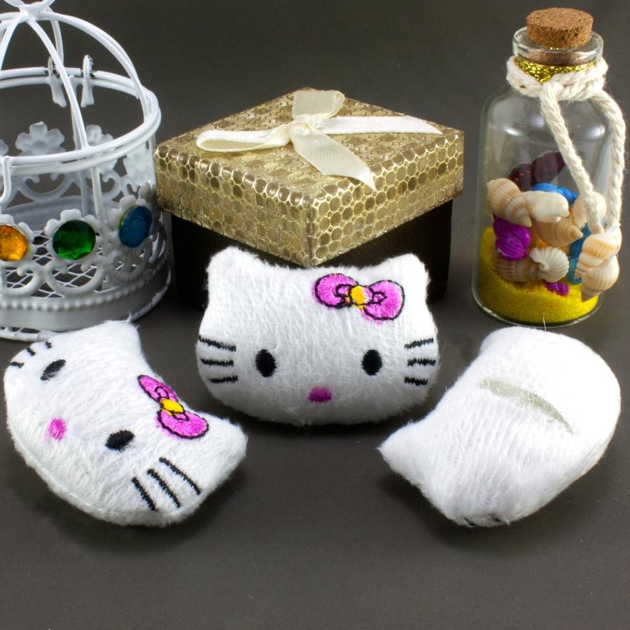 """Плюшевая заготовка-игрушка с мягким наполнителем """"Китти"""" 5х3,5см, Цена за 1шт Цвет - Белый"""