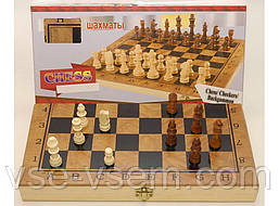 I5-51 Шахи 3 в 1 (шахи, шашки, нарди), дерево 34,5 Х 34,5 див.