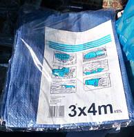Тент поліпропіленовий 3 х 4 м. з металевими кільцями., фото 1