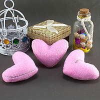 """Плюшевая заготовка-игрушка с мягким наполнителем """"Сердечко-2"""" 5,5х4,5см, Цена за 1шт Цвет - Розовый, фото 1"""