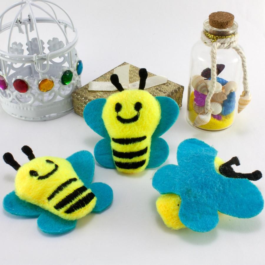 """Плюшевая заготовка-игрушка с мягким наполнителем """"Пчёлка"""" 5,5х5,5см, Цена за 1шт Цвет - на фото"""