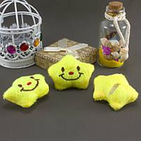 """Плюшевая заготовка-игрушка с мягким наполнителем """"Звёздочка"""" 4,5х3,5см, Цена за 1шт Цвет - Лимонный, фото 1"""