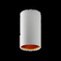 Светильник-цилиндр накладной SpectrumLED CHLOE GU10 (белый с золотой вставкой)