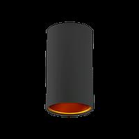 Накладной светильник-цилиндр SpectrumLED CHLOE GU10 (черный с золотой вставкой)
